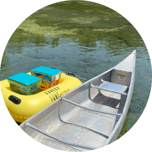 Riverside Canoes cooler raft