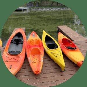 Riverside Canoes kayak options