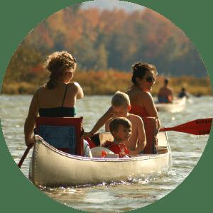 Riverside family canoe